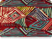 Fancy Cotton-viscose print, diamonds, coloured, 143cm