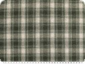 Checkered fabric, cotton blend, ecru-green, 145cm