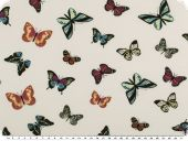 Cotton Jersey, butterflies, white, 150-155cm