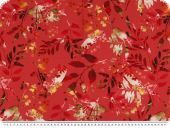 Cotton jersey, flowers, digital print, red, ca. 155cm