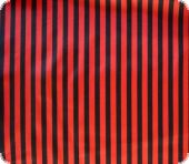 Polyester satin stripes, red-black, ca. 150cm