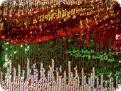 Knitted fabric with sequins, multicolour, 135cm