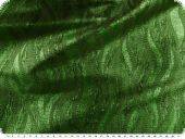 Lurex waves, green, 134cm,