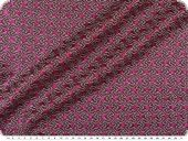 Knitted fabric with glitter & lurex, red-silver-black