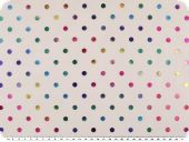 Carnival fabric, white net with coloured lurex dots, 150cm