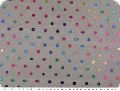 Carnival fabric, black net with coloured lurex dots, 150cm