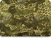 Knitted fabric with Lurex, reptile pattern, brown-green-gold
