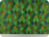 Brokat, diamonds, green-multicolour,140cm