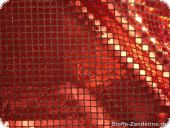 Sequined fabric, red, ca. 94cm
