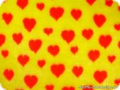 Teddy bear fabric, red-yellow, ca. 150cm