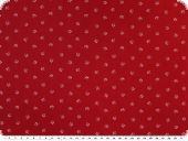 Nice cotton print, small flowers, white on red, 140cm