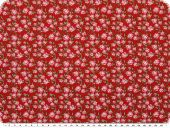 Nice cotton print, flowers, red,140cm