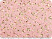 Nice cotton print, small flowers, pink, 142-145cm