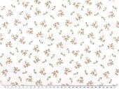 Nice cotton print, flowers, white, 142-145cm