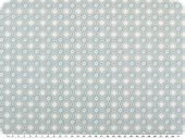 Nice cotton print, flowers, pastel turquoise, 142-145cm