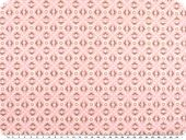 Cotton print, flowers-geometry, pink, 142-145cm