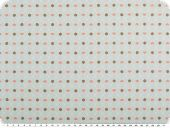 Cotton poplin, hearts and flowers, pastel turquoise, 142cm