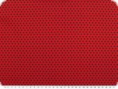 Cotton poplin, small stars, red-black, 145cm