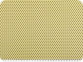Cotton poplin, small stars, beige-black, 145cm