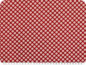 Fine cotton poplin, flowers-stars, red-white, 145cm