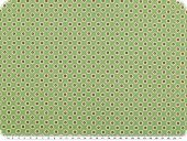 Fine cotton poplin, flowers and stars, pine green, 145cm