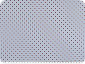 Fine cotton poplin, flowers-stars, light blue, 145cm