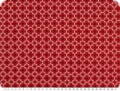 Mathildas poplin fabric, ornament-stars, red, 145cm