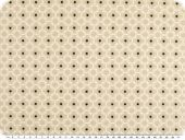 Mathilda's poplin fabric, ornament-stars, beige, 145cm