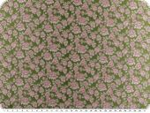 Fashionable jacquard fabric, flowers, green-antique pink