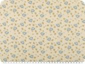Mathilda's quality poplin, birds and flowers , beige, 142cm