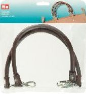 2 bag handles, 'Laura', 48cm, brown