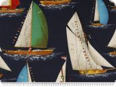 Deco fabric, America's Cup,blue-multicolour, 140cm