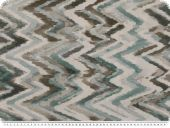 Deco fabric, coloured zizag lines, turquoise-grey, 140cm