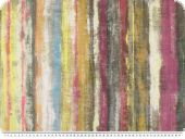 Digital deco fabric, painted stripes, multicolour,  140cm