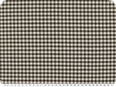 Table cloth fabric, small checks, brown-white, 140cm