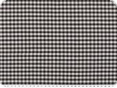Table cloth fabric, small checks, black-white, 140cm