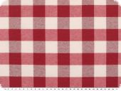 Table cloth fabric, big checks, red-white, 140cm