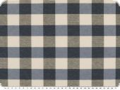 Table cloth fabric, big checks, blue-grey-white, 140cm