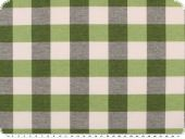 Table cloth fabric, big checks, green-grey-white, 140cm