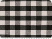 Leftover,Table cloth fabric, checks, black-white, 200x140cm