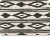 Deco fabric, aztec, white-grey, 140cm