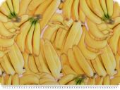 Deco fabric, digital print, bananas, yellow, 140cm