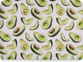 Cotton deco fabric, digital print, avocado, 140cm