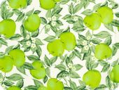 Deco fabric,  apple, cotton print, green,160cm