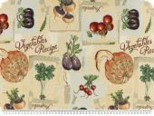 Jacquard Deco fabric, vegetables, multicolour, 140cm