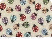 Trendy deco jacquard, ladybirds, multicolour, 140cm