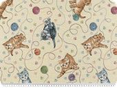 Nice deco jacquard, cats, multicolour, 140cm