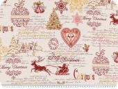 Jacquard deco fabric, christmas, multicolour, 140cm