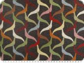 Jacquard upholstery deco fabric, grey-multicolour, 140cm