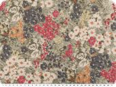 Jacquard deco fabric, flowers, multicolour, 140cm